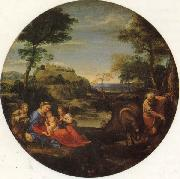Annibale Carracci The Holy Family Rests on the Fight into Egypt oil